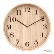 掛け時計 プライウッド レター Φ32cm 2色展開 ナチュラル