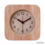 置き時計 ウッド スクエア ナチュラル