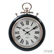 掛け時計 レイル Φ31cm ブラック