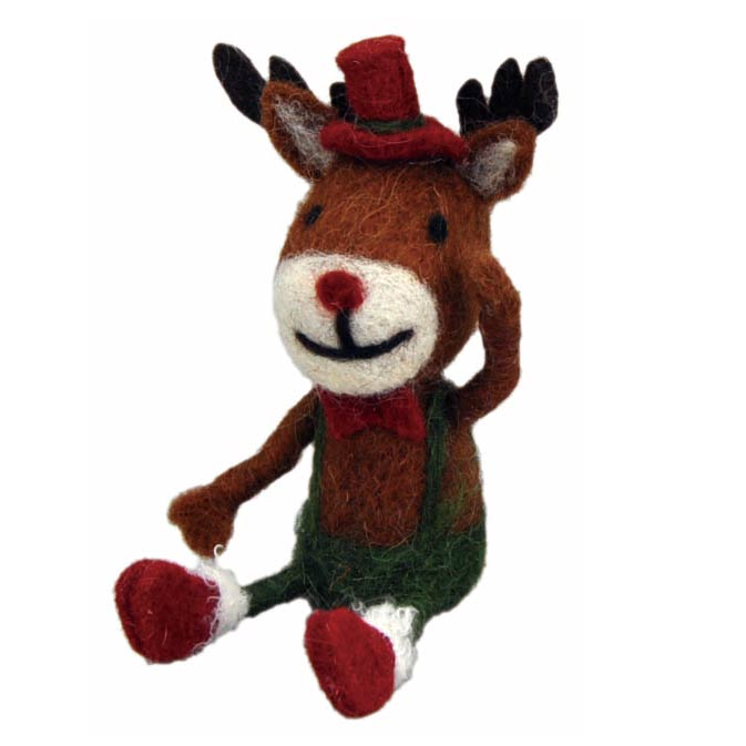 [掛率ダウン!]<AMANO>【クリスマス】【ウールマスコット】ウールシッティング・レインディア