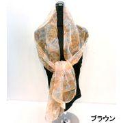 【超特激安商品】【スカーフ】ナイロングラッシャーカスリ花柄ロングスカーフ