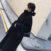 2018秋冬新作 ウールゴングコート3色 レディース ラシャタイツコートリボン付上品 エレガント韓国スタイル