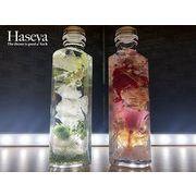 【HaseyaCollections】天然石入りハーバリウム ハート型150ml