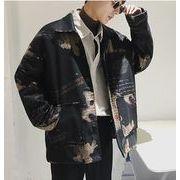 秋冬新作メンズコート ジャケット トップス ゆったり おしゃれ♪ブラック/レッド2色