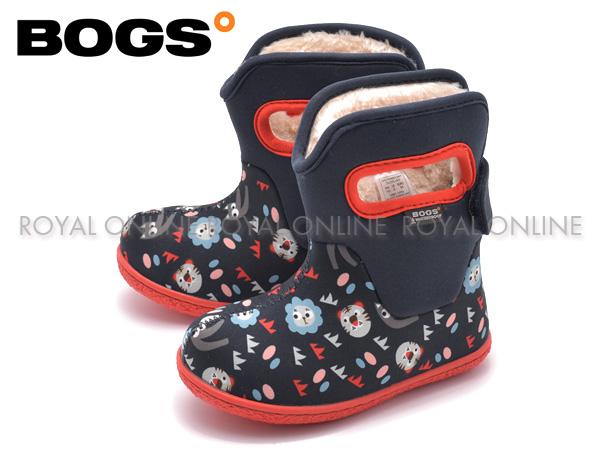 【ボグス】 78459 ベイビー ブーツ キングアニマル ファー ボア ネイビーマルチ キッズ&ジュニア