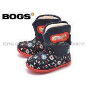 S) 【ボグス】 78459 ベイビー ブーツ キングアニマル ファー ボア  ネイビーマルチ キッズ&ジュニア