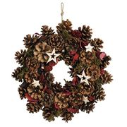 <AMANO>【クリスマス】【リース】ナチュラルデコレーションリース28cm・スターS