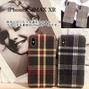 新iPhoneXS/MAX XR ケース チェック柄 フランネル 英国風 イギリス かわいいおしゃれ 耐衝撃 カバー