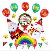 クリスマス 風船 サンタクロース 雪だるま アルミニウム膜風船 背景の壁飾り 風船のクリスマス飾り