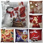 亜麻 抱き枕カバー クリスマス 老人 ソファー 枕カバー クリスマス クッション 枕カバー