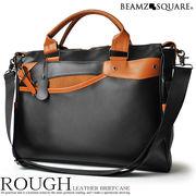 BEAMZSQUARE 牛床革ROUGHビジネスバッグ BS-2560
