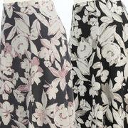 【冬 新作】レディース スカート 大胆な花柄 6枚剥ぎ スカート