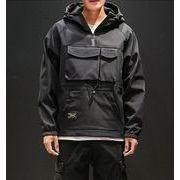 秋冬新作メンズコート裏起毛 トップス防寒 大きいサイズ♪ブラック/ベージュ/グリーン3色