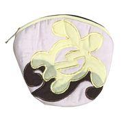 ハワイアンキルト Hawaiian Quilt ホヌ柄コインケース ライトピンク