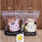 子猫 子犬 かわいい アニメ ビスケットの袋 レジャー食品 包装 袋 牛の砂糖袋 おやつ 自封のラスナー