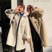韓国 スタイル ファッション レディース ゆったり ウールコート アウター 中長スタイル