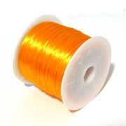 50m巻 ゴムテグス 伸縮性のあるポリウレタン/オペロンゴムラバーコード イエローゴールド