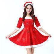 レディースクリスマス衣装 コスプレ衣装 ワンピース キラキラ サンタコスチューム