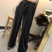 韓国 スタイル ファッション レディース ゆったり カジュアル ボトムス 長ズボン ロングパンツ