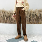 秋冬新作730370 大きいサイズ 韓国 レディース ファッション  パンツ 3L 4L 5L