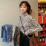 韓国 スタイル ファッション レディース 韓国風 ヒヨウ柄 長袖 Tシャツ トップス