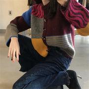 韓国 スタイル ファッション 秋 冬 レディース トップス 長袖 ニット セーター