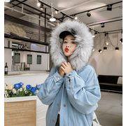2018秋冬新作/韓国ファッション/大人気/厚手/暖かい/裏起毛/フード付き/コート/学生