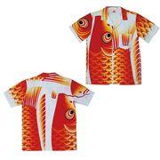 日本製 made in japanアロハシャツ 赤 L 箔無 178258