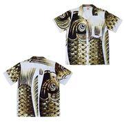 日本製 made in japanアロハシャツ 黒 M 箔入 178128