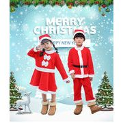 子供  クリスマスコスチューム  サンタクロース  洋服ドレスアップ  ボーイ  女の子 クリスマスプレゼント