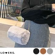 冬新作 ファーチェーンバッグ ma 【即納】バッグ 鞄 ファー エコファー チェーン ショルダー