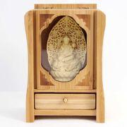 置物 木彫り(柘植の木) 八尊仏 普賢菩薩  品番: 10038