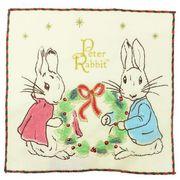 【ハンドタオル】ピーターラビット 刺繍ハンドタオル/クリスマスリース