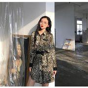 Super Sale 韓国ファッション  CHIC気質  セクシー  レオパード  ワンビース