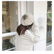 秋冬新発売 ベレー帽 ニット帽子 レディース ウール毛 帽子 八角帽子