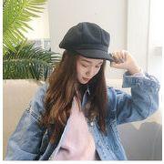 秋冬新発売 韓国風 ベレー帽 レディース ウール毛 帽子 八角帽子