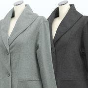 【冬 新作】レディース アウター ピーチ起毛 3つボタン チェスター コート 3枚セット
