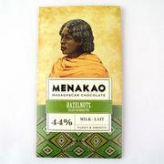 メナカオ ミルクチョコレート44% ヘーゼルナッツ 75G