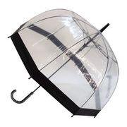 レディースビニール傘 【バイカラーBK】 60cm