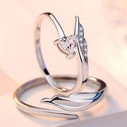 ペアリング シルバー 2点セット オープンデザイン 純銀925  マリッジリング 結婚指輪