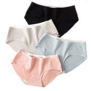 4枚セット シームレス 女性パンツ 一体型ショーツ 女性ショーツ 高通気性 純綿