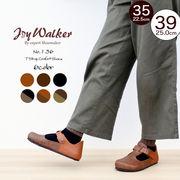 【joy walker】レディースサイズ Tストラップ シューズ 6色