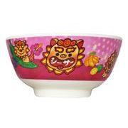 メラミンシーサー 子供用 茶碗 (ピンク)