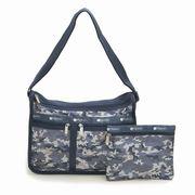 LeSportsac レスポートサック ショルダーバッグ Deluxe Everyday Bag CAMO BLUES