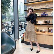 【限定SALE】秋冬 大人気 新作★ 韓国ファッション ドット柄   プリーツスカート  ハイウエスト スカート