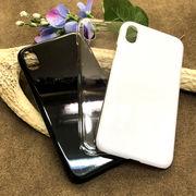 プリント・デコ用素材★iPhone XR用☆ハードケース★ポリカーボネート 全3色