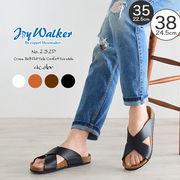 【joy walker】 レディースサイズ クロス サンダル 4色
