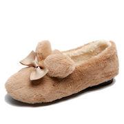 ふわふわシューズ 女 ウインター アウトドア ピーズ靴 新しいデザイン 韓国風 リボン
