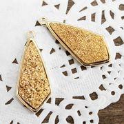 ドゥルージー GL枠ダイヤ型 ゴールド 3cm×1.3cm  品番: 10420