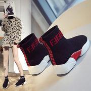 スポーツシューズ 女 新しいデザイン 韓国風 ネット 布 通気 ささいなこと ヒール 熏